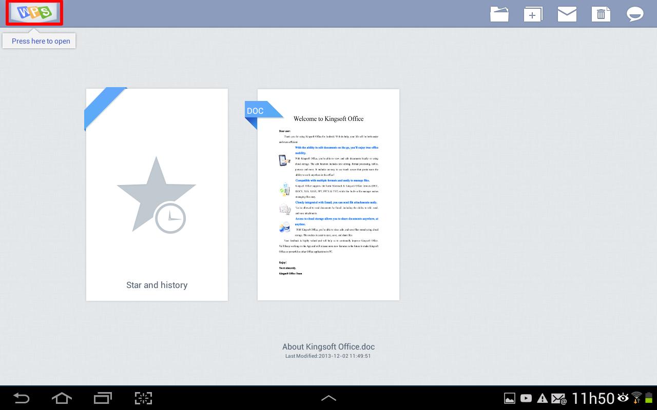Selecione o símbolo do aplicativo para procurar seu documento (Foto: Reprodução/Daniel Ribeiro)