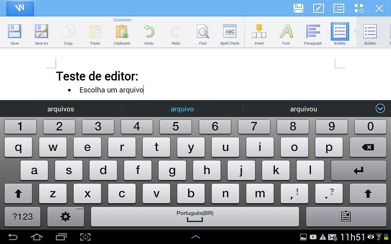 Visualize o texto do documento e altere-o utilizando os métodos de escrita de seu aparelho (Foto: Reprodução/Daniel Ribeiro)
