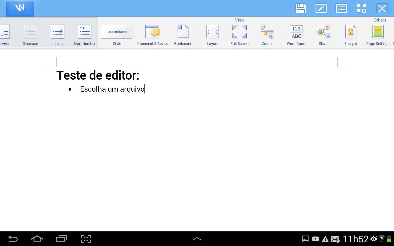 Utilize as ferramentas na parte superior do app para formatar o texto e seus parágrafos (Foto: Reprodução/Daniel Ribeiro)