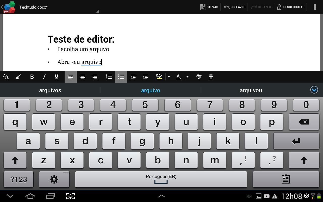 Escreva utilizando os métodos de escrita de seu dispositivo e utilize a barra de ferramentas que acompanha a caixa de texto (Foto: Reprodução/Daniel Ribeiro)