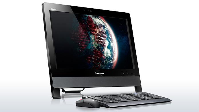 O all-in-one da Lenovo foi desenvolvido para economizar espaço e energia. Possui base removível e gerenciamento térmico para otimizar a vida útil da máquina (Foto:   Divulgação)