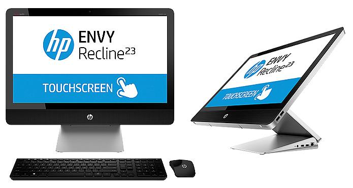 O HP Envy Recline 23 tem tela HD que pode ficar em quatro posições diferentes e ser reclinada (Foto: Reprodução/HP)