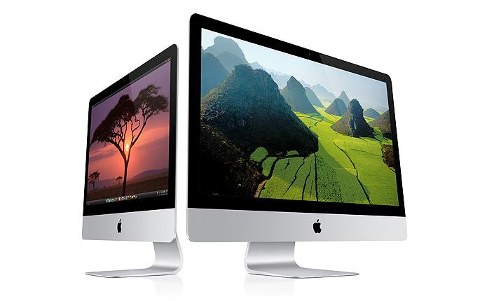 A tela do iMac é retroiluminada e tem design para diminuir em 75% o reflexo (Foto: Divulgação/Apple)