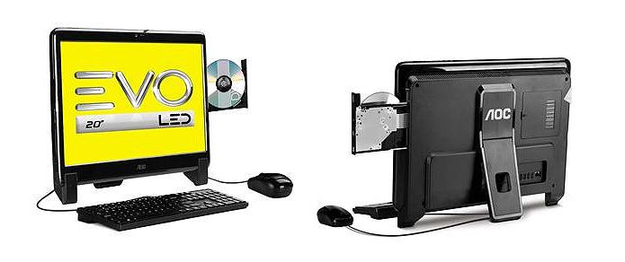 Com preço mais em conta, o equipamento da AOC vem com Windows 8 e processador da AMD (Foto: Reprodução/Karla Soares)
