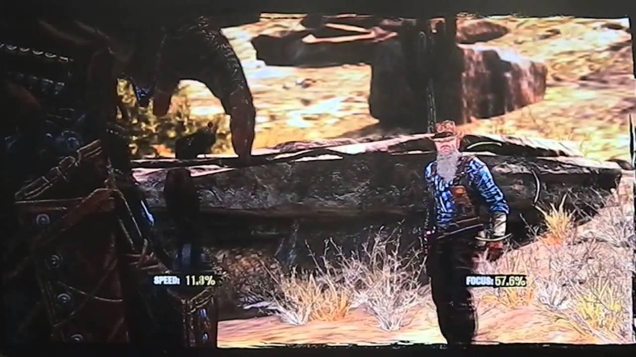 Call of Juarez: o duelo contra o Velho Clanton é a melhor chance de se acertar um pássaro (foto: Reprodução/Youtube)
