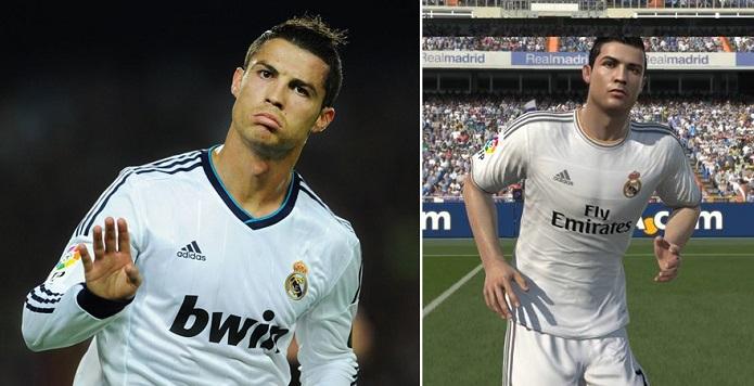 Cristiano tem até comemoração no Fifa 14 (Foto: Reprodução)