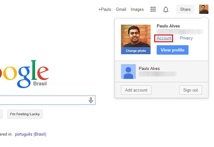 Entre com seu login e senha no Google (Foto: Reprodução/Paulo Alves)