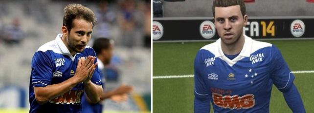 Everton Ribeiro não está muito parecido (Foto: Reprodução)