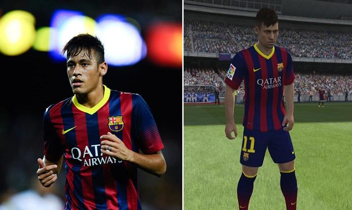 Neymar é uma das estrelas do Fifa 14 (Foto: Reprodução)