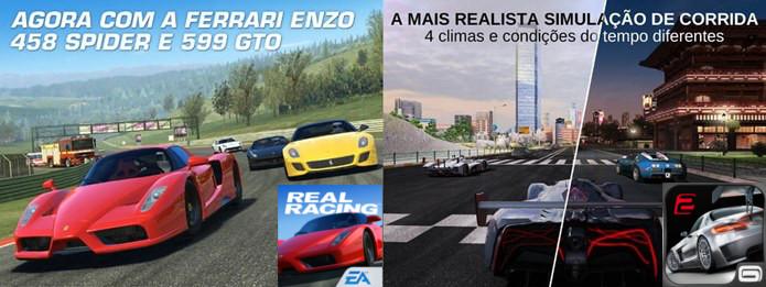 Real Racing 3 ou GT Racing 2? Quem ganha essa corrida? (Foto: Montagem  / Dario Coutinho)