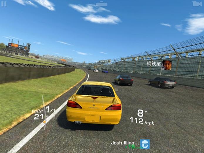 Sensação de direção é maior em Real Racing 3 (Foto: Reprodução / Dario Coutinho)