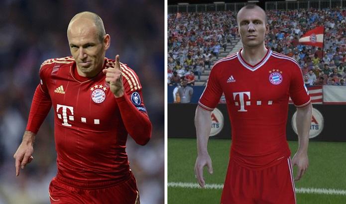 Robben, do Bayern Munique: carequinha característica (Foto: Reprodução)