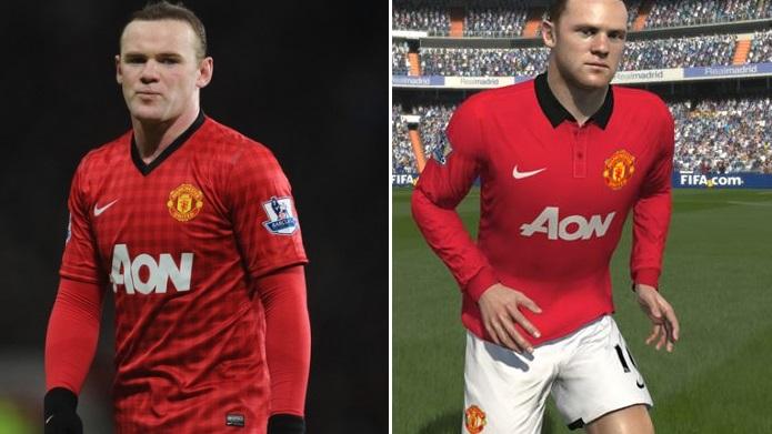 Rooney é bem semelhante (Foto: Reprodução)