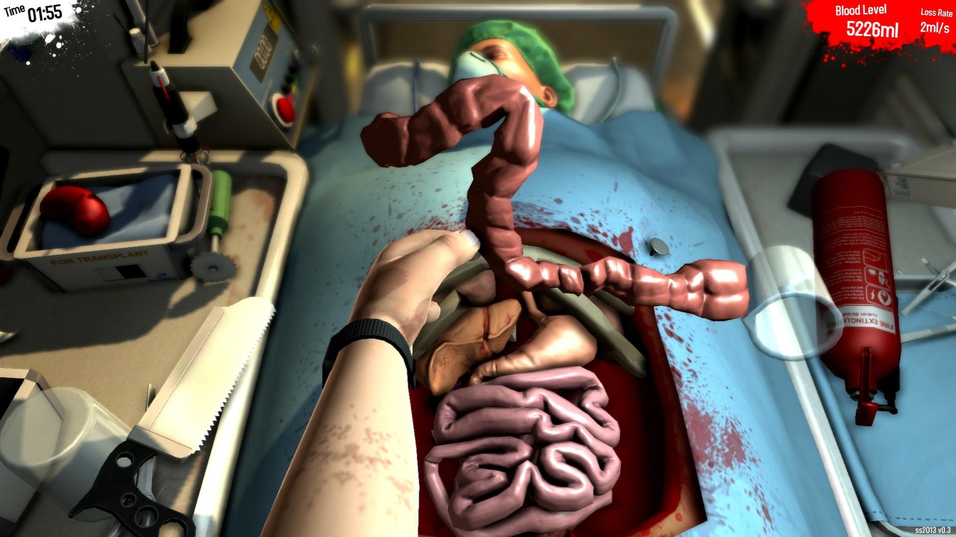Surgeon Simulator: entre na pele de um cirurgião e realize diversos transplantes (Foto: Reprodução/Steam)