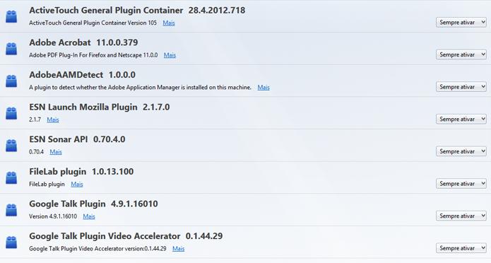 Veja na lista quais os plugins suspeitos (Foto: Reprodução/Paulo Alves)