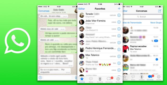 WhatsApp finalmente ajustou-se ao visual do iOS 7 (Foto: divulgação)