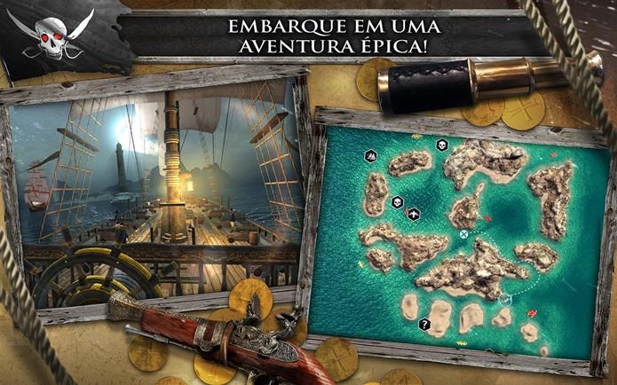 Assassins Creed Pirates traz jogabilidade diferente e inovadora (Foto: Divulgação)