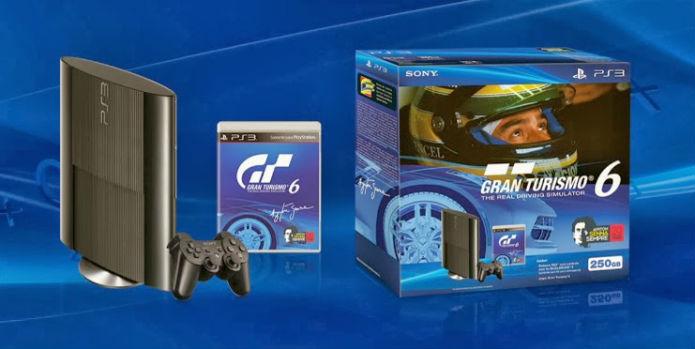 O bundle com o PS3 e GT6 sai em dezembro no Brasil por R$1.099. O pacote dará 25 carros modificados e 1 milhão de créditos dentro do jogo (Foto: Divulgação/Sony)