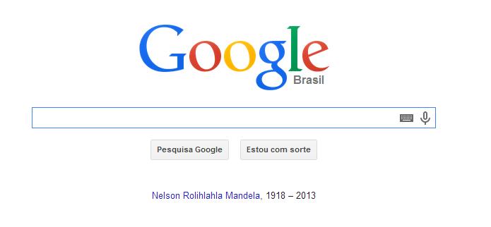 Mandela recebeu homenagem do Google (Foto: Reprodução/TechTudo)