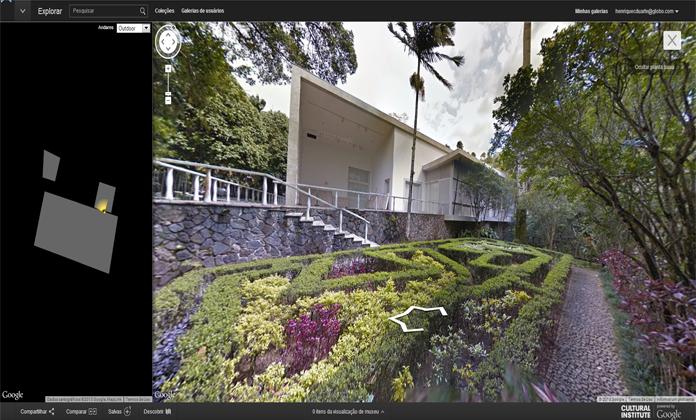 Os belos jardins do Instituto Moreira Salles na Gávea, Rio de Janeiro