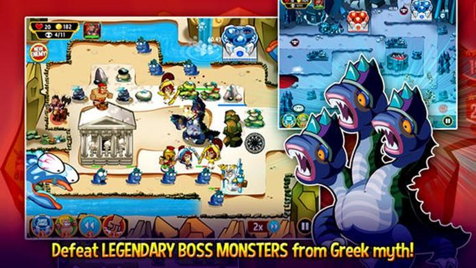 OMG: TD! combina Mitologia Grega com Tower Defense de maneira cômica (Foto: Divulgação)