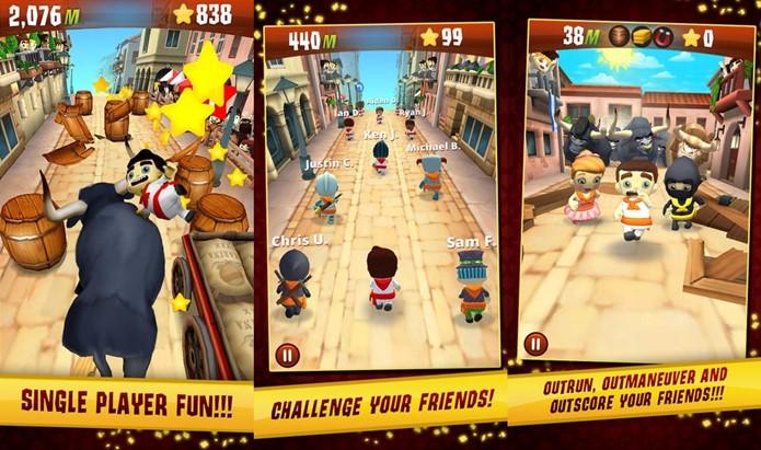 Stampede Run é um jogo de corrida infinita com multiplayer online (Foto: Divulgação)