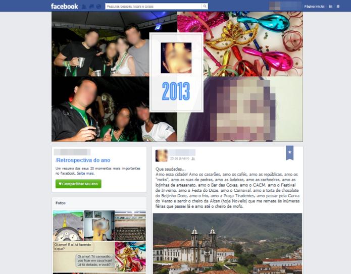 Retrospectiva 2013 do Facebook (Foto: Reprodução/Lívia Dâmaso)