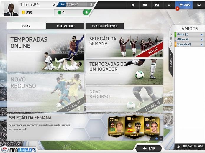 É possível jogar tanto online quanto offline (Foto: Reprodução/Thiago Barros)