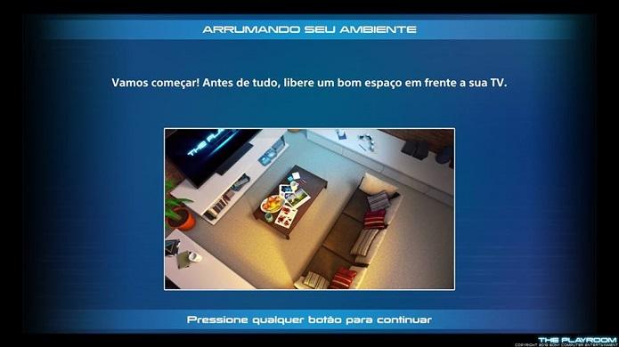 Abra espaço para usar o PlayRoom (Foto: Thiago Barros/TechTudo)