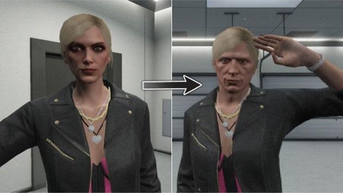 Mulher vira homem no bug de GTA 5 (Foto: Reprodução/2CH)