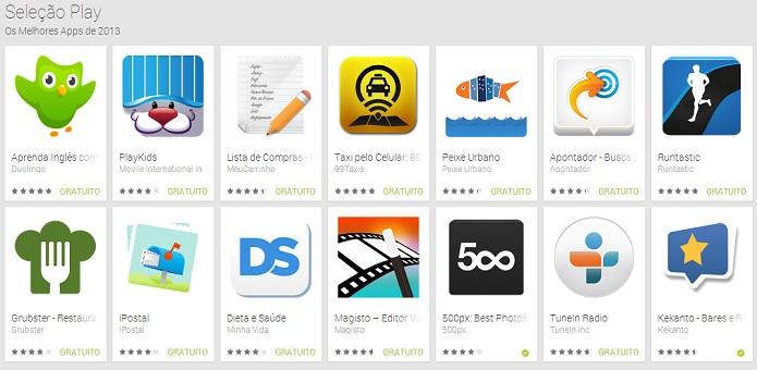 Estes foram os apps escolhidos (Foto: Divulgação)