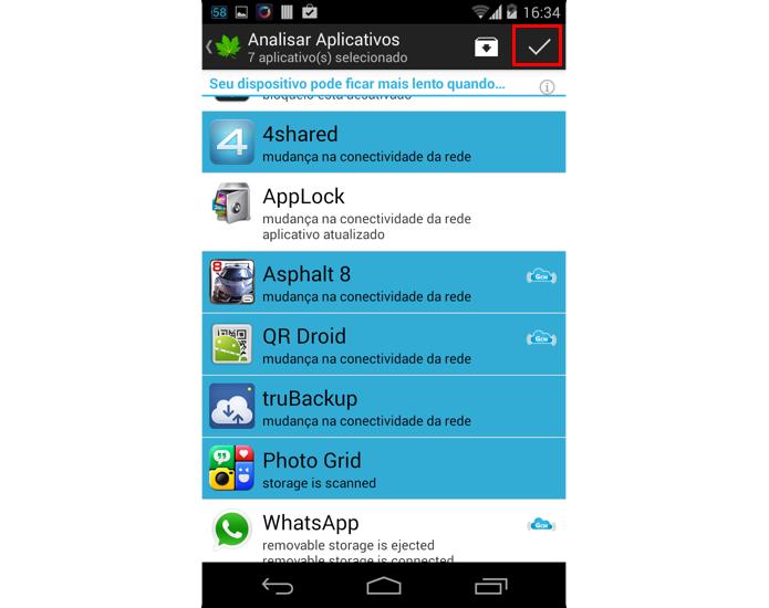 Escolha os aplicativos que serão hibernados (Foto: Reprodução/Thiago Bittencourt)