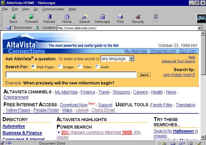 Yahoo matou o antigo buscador AltaVista (Foto: Reprodução/Wikipedia)