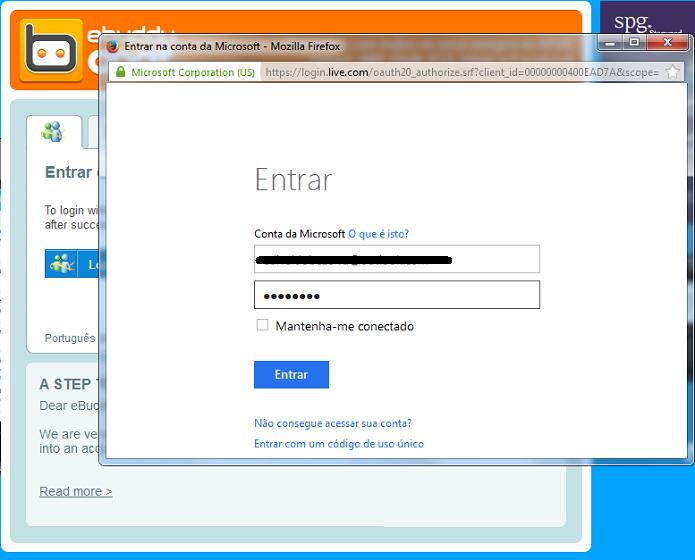 Acessando uma conta Microsoft (Foto: Reprodução/Edivaldo Brito)