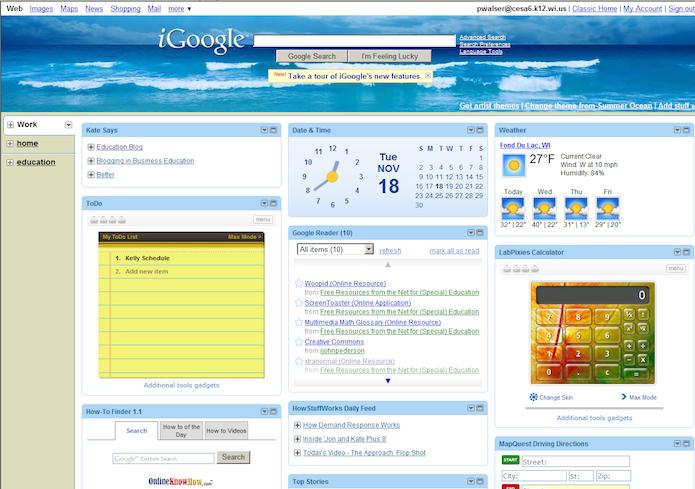 iGoogle foi outro serviço do Google que morreu em 2013 (Foto: Divulgação)