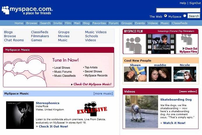 A rede Myspace se renovou e a versão clássica deixou de existir (Foto: Reprodução/Meegannic)
