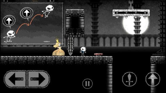Dokuro tem visual lúgubre, mas jogabilidade encantadora (Foto: Divulgação)