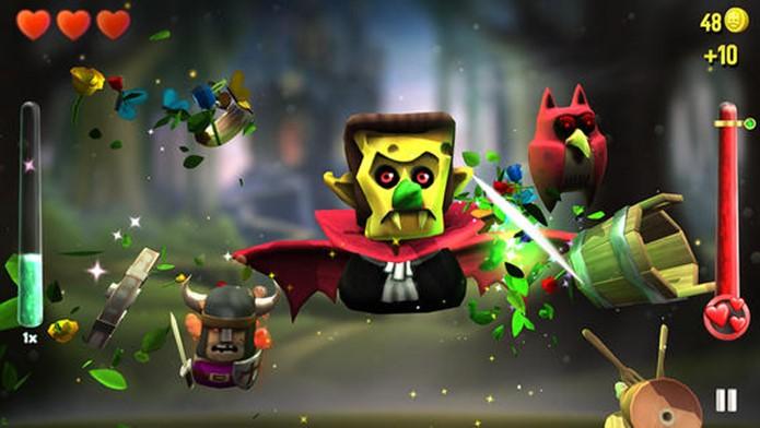KingHunter é um Fruit Ninja diferente com chefes de fases e desafios exclusivos (Foto: Divulgação)