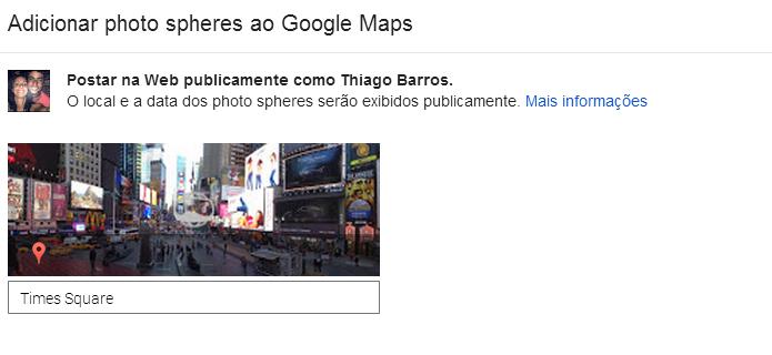 Depois, poste a foto no Views (Foto: Thiago Barros/Reprodução)