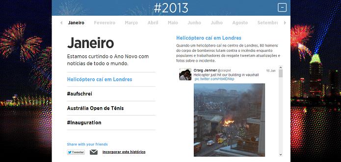 Twitter relembra momentos de 2013 (Foto: Reprodução/Twitter)