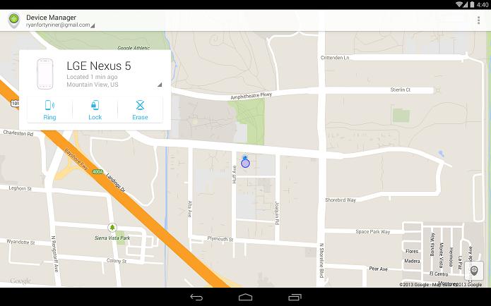Android Device Manager é um app que localiza celulares Android perdidos (Foto: Divulgação)