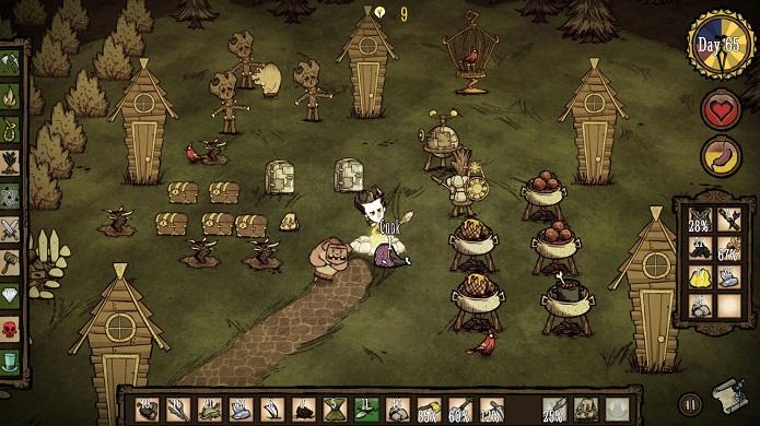 Dont Starve é um game de sobrevivência belo, mas desafiador. (Foto: Divulgação)