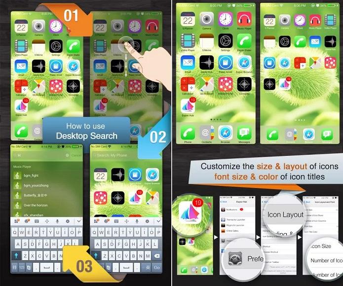 Espier: cara do iOS 7, mas no Android (Foto: Divulgação)