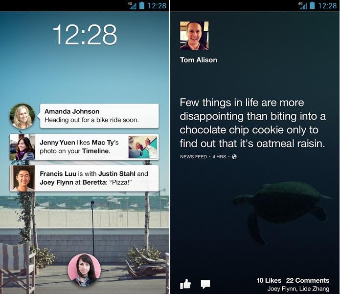 Home coloca o Facebook como centro do Android (Foto: Divulgação)