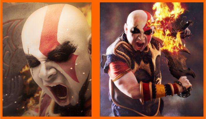 Além de dublador, Ricado Juarez é gamer e fez esse espetacular cosplay de Kratos (Foto: Reprodução/Ricardo Juarez)