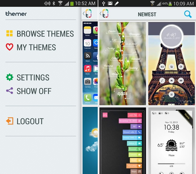 Themer é prático e possui muitas opções de temas (Foto: Divulgação)