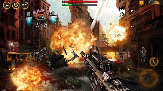 Overkill 2 é um jogo de tiro casual com disputas online (Foto: Divulgação)