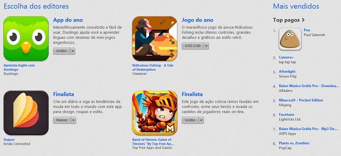Melhores apps na App Store do Brasil (Foto: Reprodução/Thiago Barros)