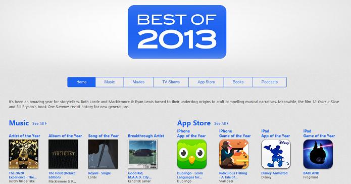 Destaques do ano da Apple (Foto: Divulgação/Apple)