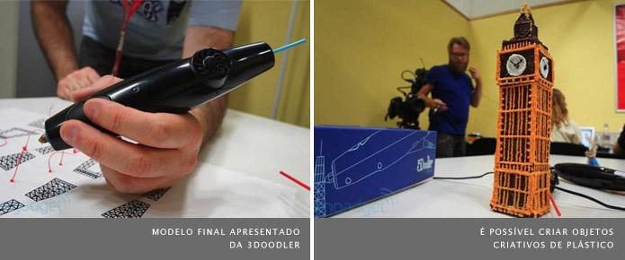 Com a 3Doodler é possível criar esculturas de plástico (Foto: Reprodução/Engadget)